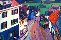 Reprodukcje obrazów View from the window of Griesbräu - Wassily Kandinsky Rozmiar - 90x60