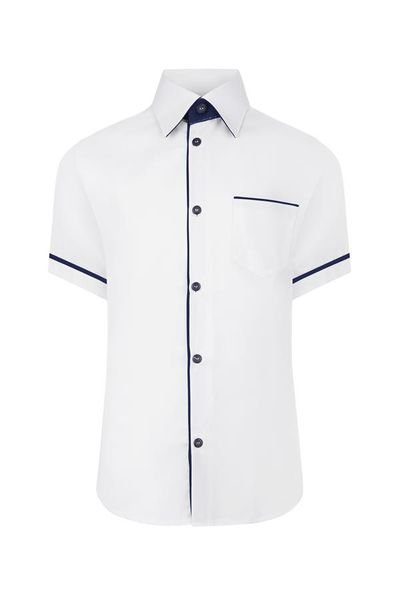 Biała koszula chłopięca, krótki rękaw 176 zdjęcie 1