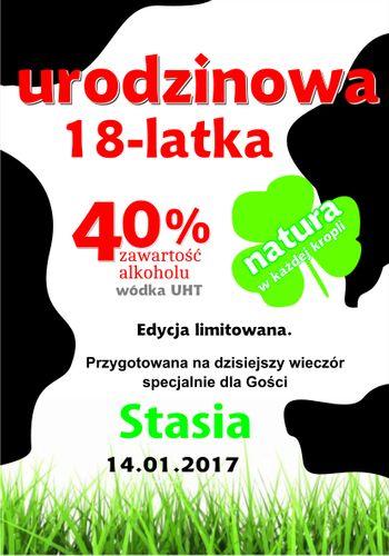 NAKLEJKI NA WÓDKĘ URODZINY 18 30 40 ETYKIETY 8szt na Arena.pl