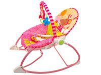 Uroczy Różowy Bujaczek Leżaczek z Wibracją 3w1