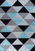 Dywan Komfort Ice Stream 08 80X150 Element Niebieski Szary Czarny Trójkąty