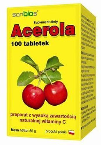 Acerola C - Naturalna Witamina C 100tab od Brat_pl na Arena.pl