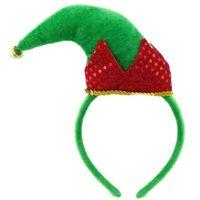 Opaska na głowę ELF czapka elfa zielono czerwona