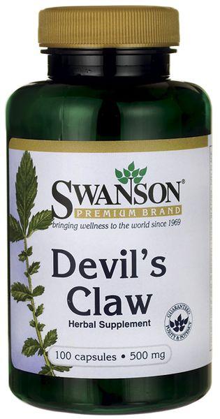 Diabelski pazur 500 mg  Devil's Claw 100 kapsułek SWANSON zdjęcie 1