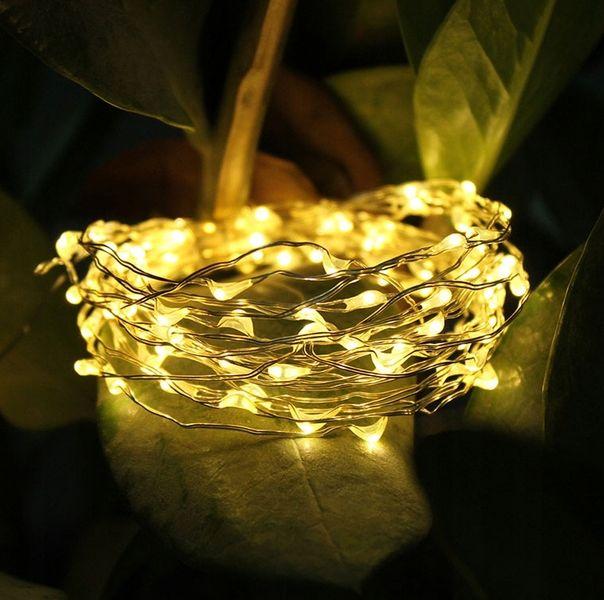 Lampki Druciki Mini Led Na Baterie 50 Białe Ciepły zdjęcie 1
