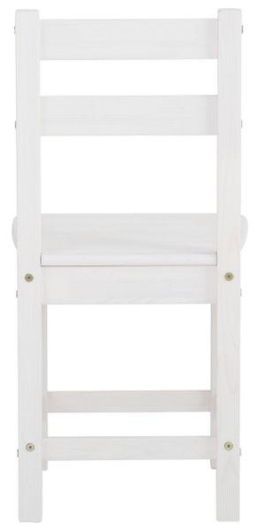 Ponadczasowe, sosnowe krzesła w kolorze białym - 6 sztuk zdjęcie 2