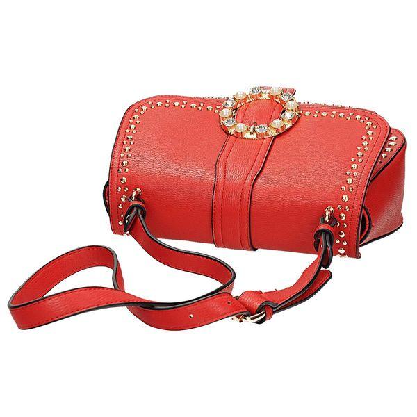 f3891dcc2cb17 Czerwona torebka z ozdobną klamrą Schilo Jolie • Arena.pl