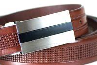 Pasek skórzany, elegancki brązowy Cartello C-2030A-2 Rozmiar 85