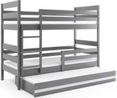 Łóżko piętrowe trzyosobowe Eryk 190x80 dla dzieci dziecięce + STELAŻ zdjęcie 1