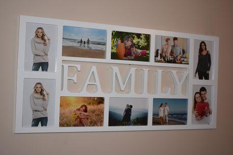 Multirama drewniana  ramka na zdjęcie z napisem FAMILY