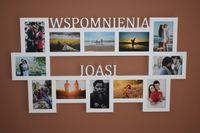 Multirama drewniana ramka na zdjęcia z napisem  Wspomnienia imię 12 zd