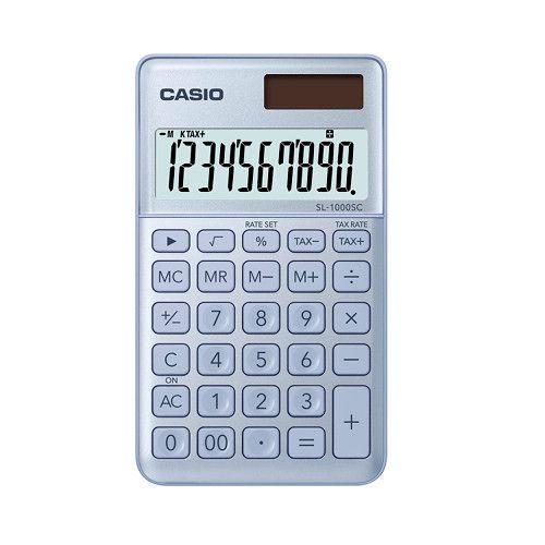 Kalkulator 10pozycyjny niebieski SL-1000SC-BU-S Casio Stylish zdjęcie 1