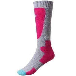 Skarpety narciarskie dla dziewczynki 4F różowe HJZ19 JSODN001 54S