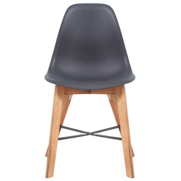 Krzesła Stołowe, 2 Szt., Czarne, Plastikowe zdjęcie 2