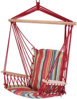 Krzesło Fotel hamak ogrodowy wiszący Pasy Czerwone 100x65cm
