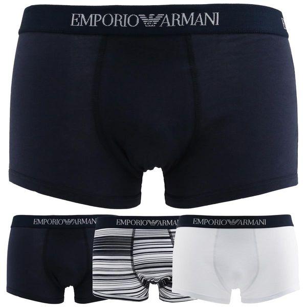 b2887954e1ea8 Emporio Armani bokserki męskie zestaw 3 pary niebieski M • Arena.pl