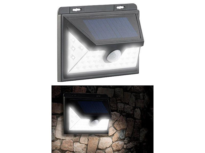 Kinkiet solarny LED z czujnikiem ruchu 350 lm / 7,2 W Luminea WL-735.s zdjęcie 7