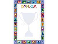 Dyplom Sportowy w Formacie A5 2 sztuki szkolny wyróżnienie nagroda