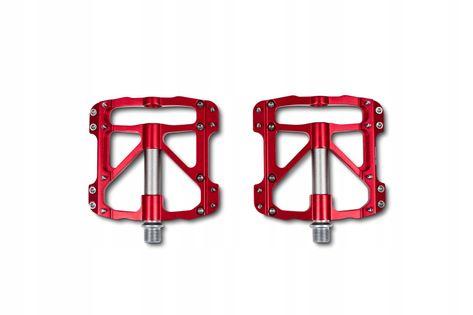 Pedały rowerowe Cube RFR Pedale Flat SLT red/grey