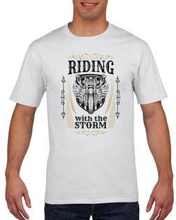 Koszulka męska DLA MOTOCYKLISTY RIDING  L