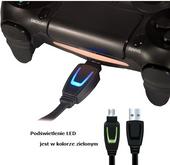 3m LED kabel micro USB ładowanie pad PS4 XBOX ONE zdjęcie 6