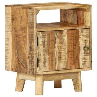 Stolik nocny, 40x30x50 cm, surowe drewno mango