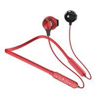 Dudao Douszne Bezprzewodowe Słuchawki Bluetooth Zestaw Słuchawkowy Czerwony (U5 Plus Red)