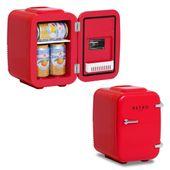 Mini lodówka - samochodowa - 4 l czerwona termostat bredeco BCMF-4L-S