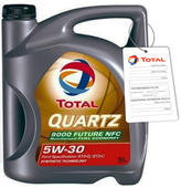 TOTAL QUARTZ 9000 FUTURE NFC 5W30 4L