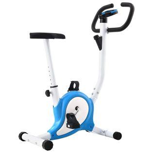 Rowerek do ćwiczeń z paskiem oporowym niebieski VidaXL