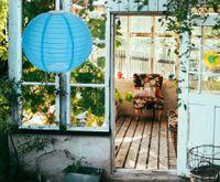 Lampion solarny. Idealny do ogrodu, na balkon i taras. Odporny na warunki atmosferyczne. Średnica 40 cm. 4 kolory do wyboru.