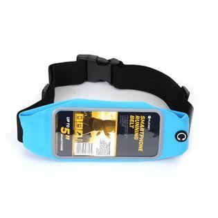 Pas do biegania z oknem na smartfona NIEBIESKI
