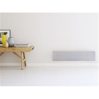 Mill Glass Mb800L Dn G Panel Heater, 800 W, Suitable For Rooms Up To 14 M², Number Of Fins Inapplicable, Grey