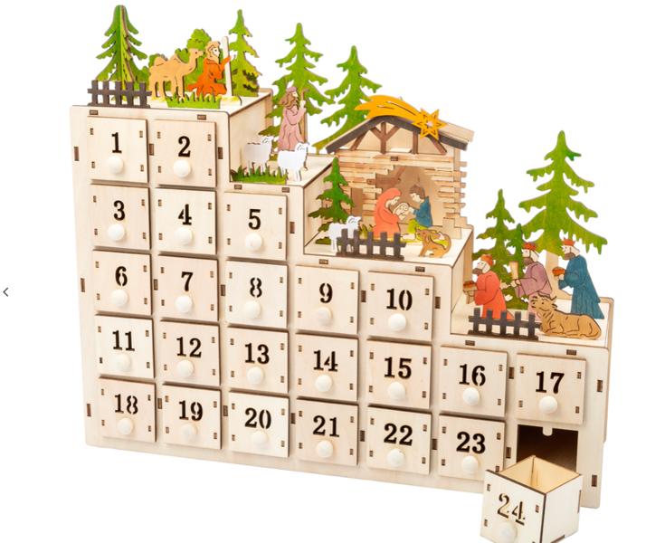 Kalendarz adwentowy z oświetleniem LED Kaskada zdjęcie 1