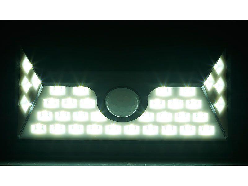 Kinkiet solarny LED z czujnikiem ruchu 350 lm / 7,2 W Luminea WL-735.s zdjęcie 5