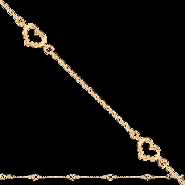 bransoletka z serduszkamizłoto 585/14k zdjęcie 1