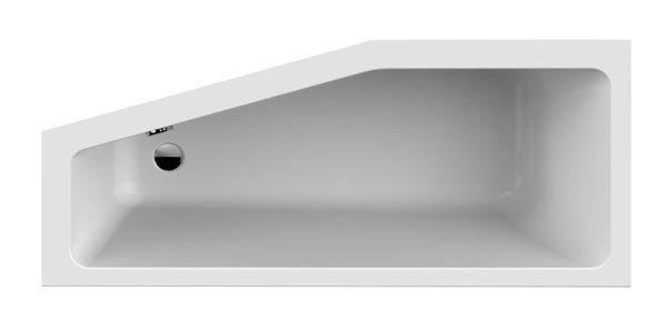 Narożna wanna akrylowa przyścienna 70x160cm +syfon Polska