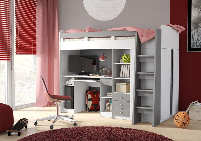Łóżko Piętrowe dla dzieci, meble młodzieżowe antresola COMBI zdjęcie 4