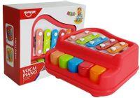 Pianinko Cymbałki Czerwone Instrument Dla Dzieci Niemowląt