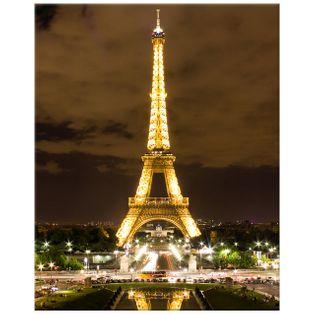 OBRAZ DRUKOWANY  Paryż Wieża Eiffla - zdjęcie nocą 40x50