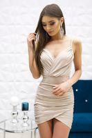 Sukienka Rita- beżowy brokat M (38)