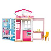 Barbie - Domek dla lalek dwupoziomowy piętrowy DVV47