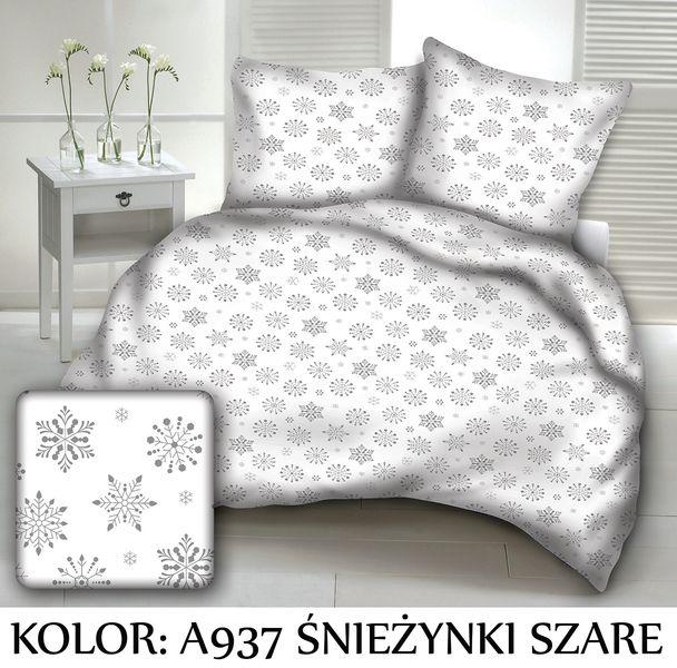 Pościel świąteczna 160x200 3cz Satynowa Satyna Bawełna Polska