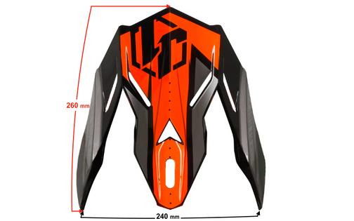 Daszek kasku JUST1 J38 BLADE Orange-Black