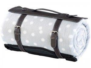 Wodoodporny koc piknikowy z polaru (175 x 200 cm) zdjęcie 2