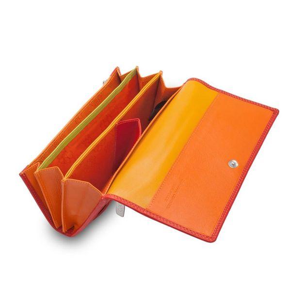 Skórzany portfel damski DuDu®, 534-1165 czerwony zdjęcie 5