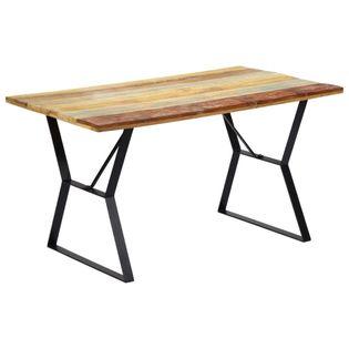 Stół jadalniany, 140 x 80 x 76 cm, z litego drewna z odzysku