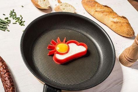 Foremka silikonowa do jajek - Słońce i chmurka