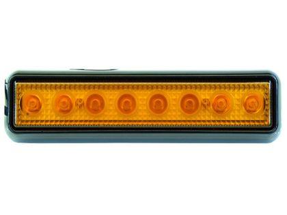 mocna Lampa 8 LED 20x5 cm błyskowa stroboskop 12v 24v ostrzegawcza