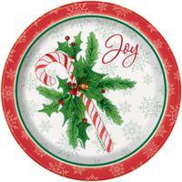 TALERZYKI świąteczne LASKA CUKROWA święta 8 szt